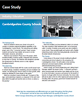 Case Study Verkabelung: Schulen in Cambridgeshire County