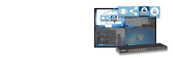 Discover the award-winning graphical user interface of the DCX3000 digital KVM switch.